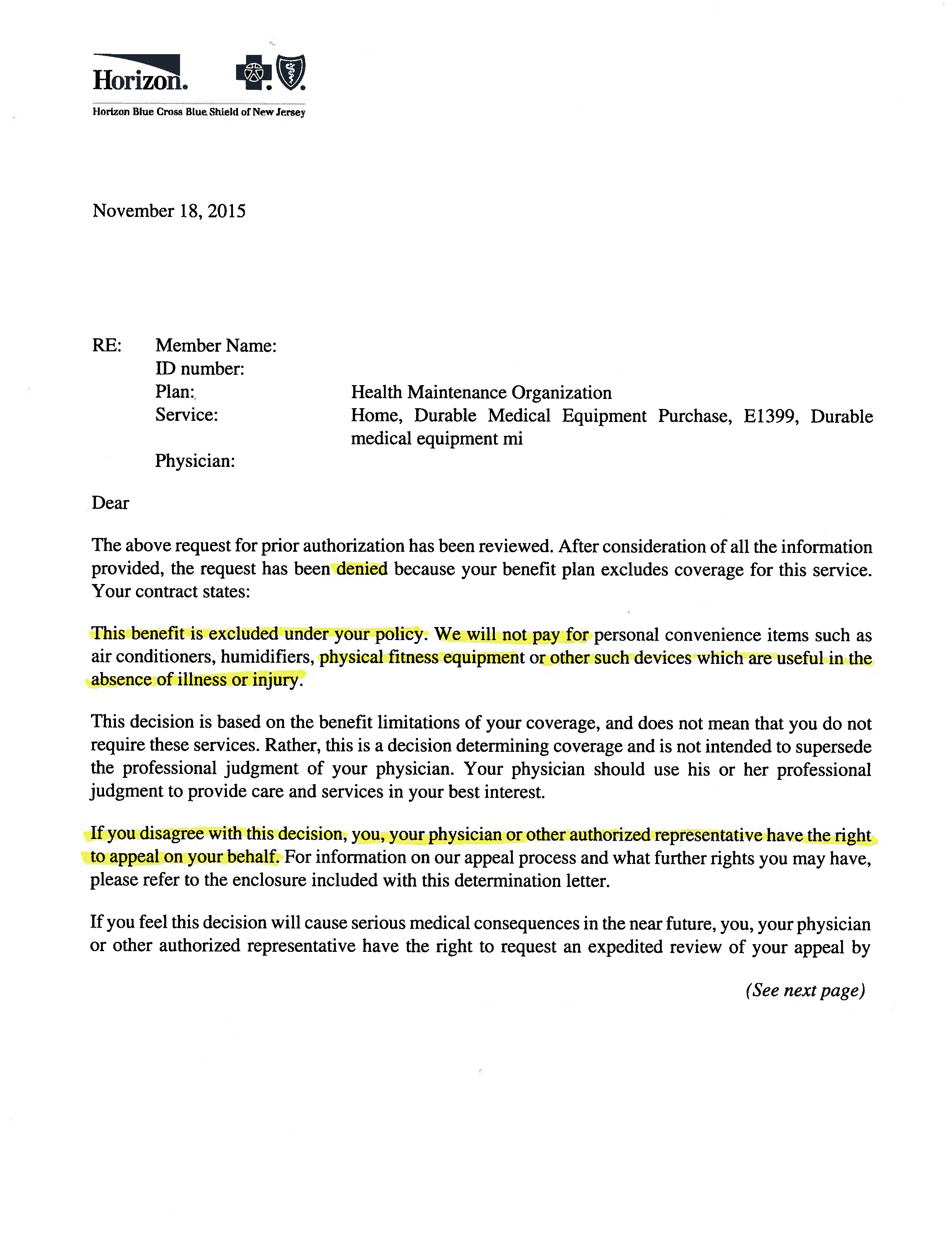 medical waiver programs va appeal letter sample