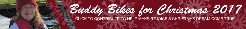 Your contributions can help us give away Buddy Bikes to special needs kids for Christmas 2015! Click to learn more & contribute!